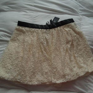 NWT Jessica Simpson White Lace Skirt